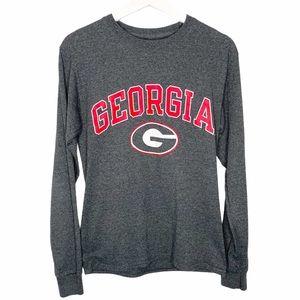 CHAMPION University of Georgia Long Sleeve Top S
